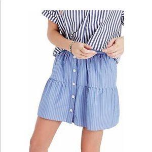 Madewell bistro mini skirt in stripe